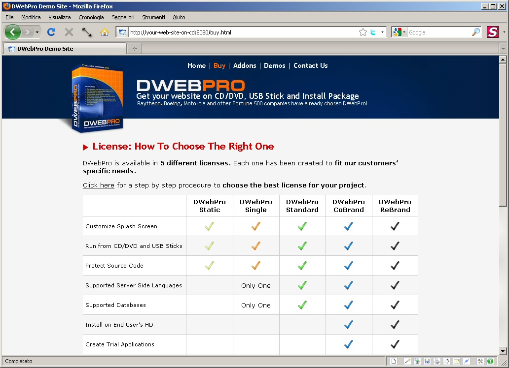 Click to view DWebPro 8.4.4 screenshot